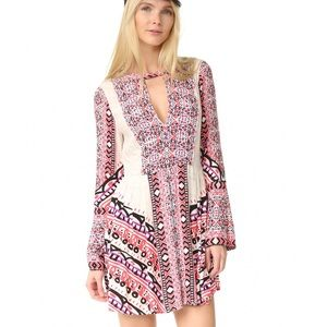 NWT Free People Tehran Border Printed Mini Dress